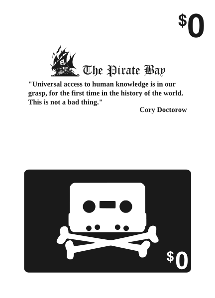 Pirate Bay Gift Card