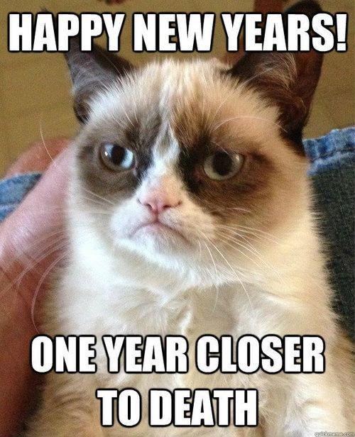 Bonne année !  Un an plus proche de la mort...