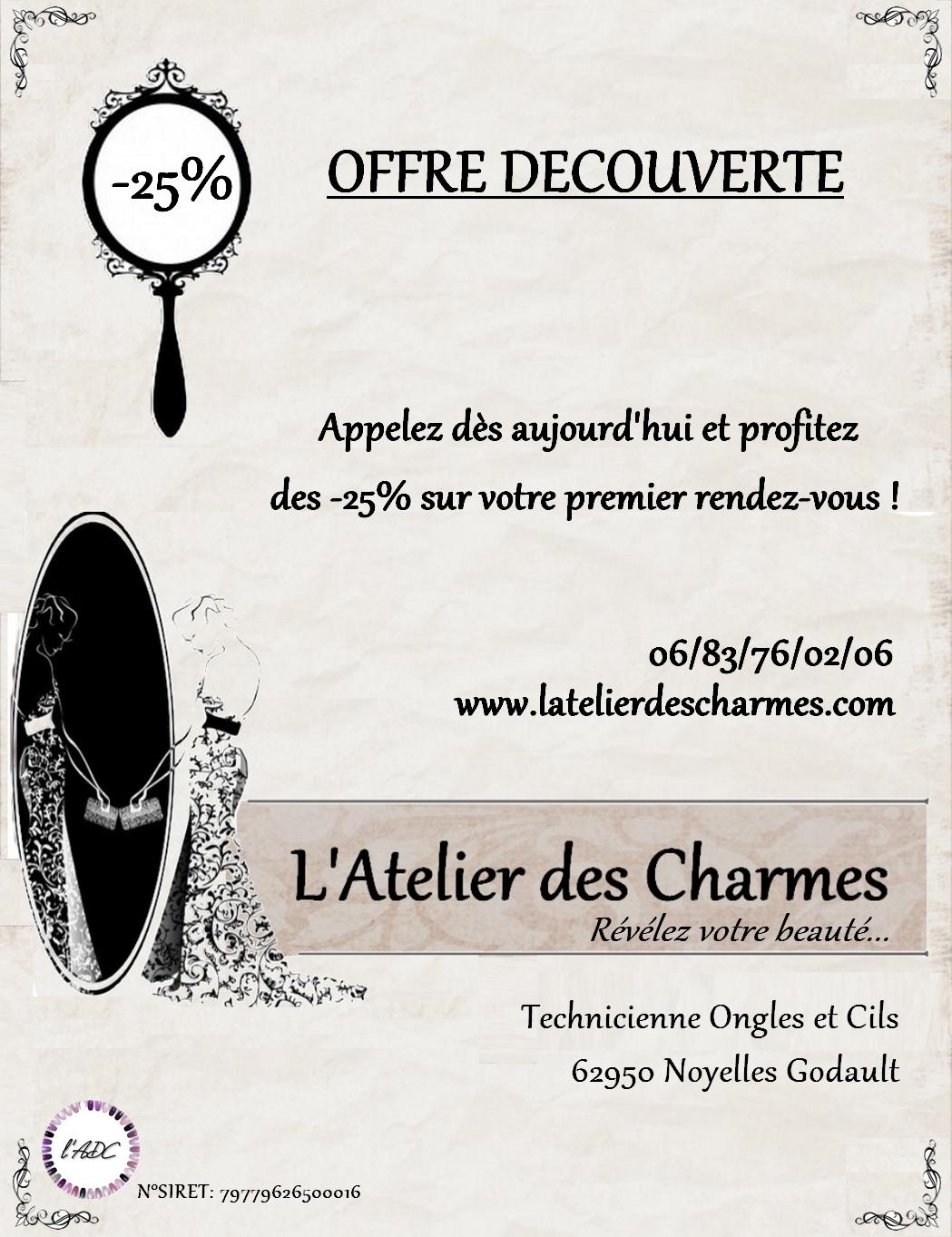 flyer L'Atelier des Charmes