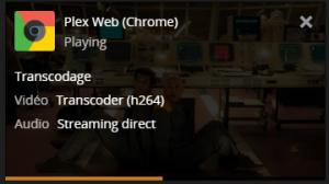 Transcodage en direct avec Plex